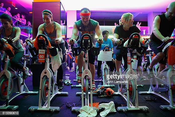 Journalist Erica Hill attends 2016 Cycle For Survival Indoor Team Cycling Event at Equinox Bryant Park on March 13 2016 in New York City