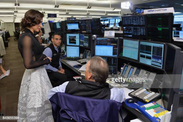 Journalist Erica Hill participates in Annual Charity Day hosted by Cantor Fitzgerald BGC and GFI at Cantor Fitzgerald on September 11 2017 in New...