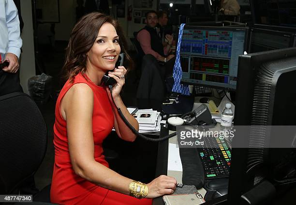 Journalist Erica Hill participates in the annual Charity Day hosted by Cantor Fitzgerald and BGC at Cantor Fitzgerald on September 11 2015 in New...