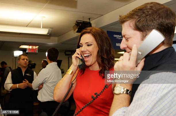 Journalist Erica Hill participates in the annual Charity Day hosted by Cantor Fitzgerald and BGC at Cantor Fitzgerald on September 11, 2015 in New...