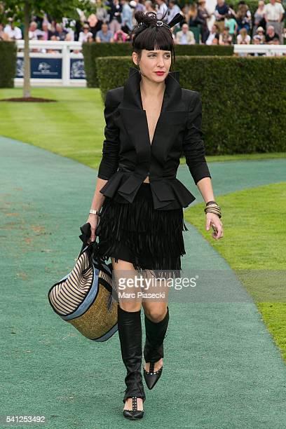 Journalist Erika Moulet attends the 'Prix de Diane Longines' on June 19 2016 in Chantilly France