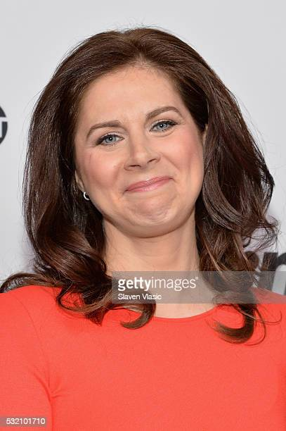 Journalist Erin Burnett attends the Turner Upfront 2016 at Nick Stef's Steakhouse on May 18 2016 in New York City