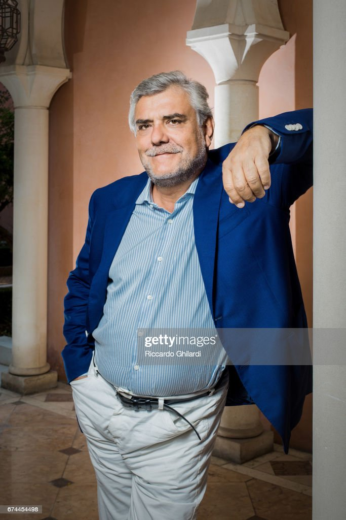 Journalist, essayist, and screenwriter Giancarlo De Cataldo is photographed on September 7, 2016 in Venice, Italy.