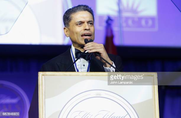 Journalist Fareed Zakaria attends 2017 Ellis Island Medals of Honor Ceremony at Ellis Island on May 13 2017 in New York City