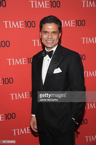 Journalist Fareed Zakaria attends the 2013 Time 100 Gala at Frederick P Rose Hall Jazz at Lincoln Center on April 23 2013 in New York City