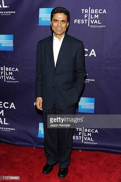 Journalist Fareed Zakaria attends the premiere of The Carrier during the 2011 Tribeca Film Festival at AMC Loews Village 7 on April 21 2011 in New...