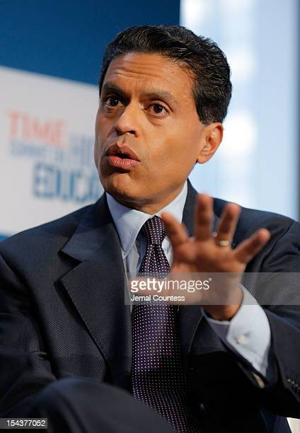 Journalist Fareed Zakaria moderates the Changing Landscapes From the Digital Classroom to the Global Campus panal during the TIME Summit On Higher...