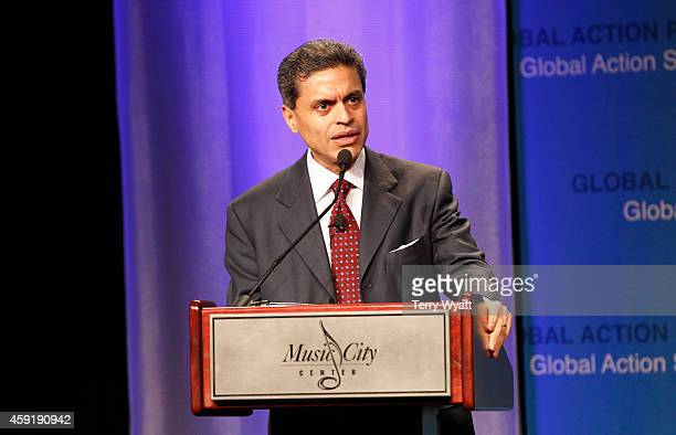 Journalist Fareed Zakaria speaks at the 2014 Global Action Summit at Music City Center on November 18 2014 in Nashville Tennessee