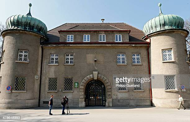 Journalist film outside the Landsberg prison, where Uli Hoeness will presumably serve his sentence, after the announcement by Uli Hoeness that he has...