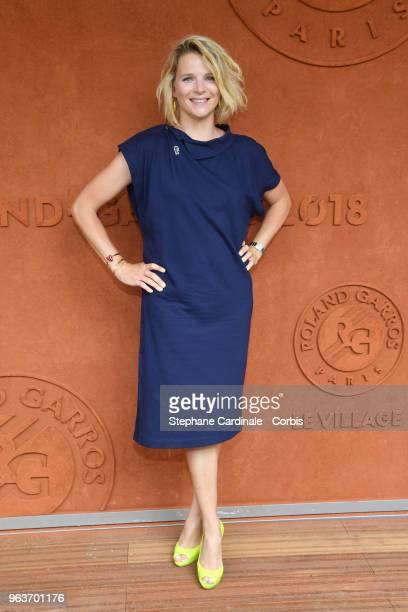 Journalist France Pierron attends the 2018 French Open Day Four at Roland Garros on May 30 2018 in Paris France