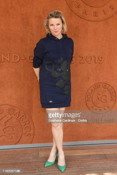 Journalist France Pierron attends the 2019 French Tennis Open Day Two at Roland Garros on May 27 2019 in Paris France