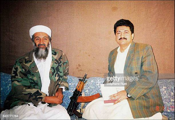 Journalist from Pakistani English daily newspaper Dawn accompanied by Osama bin Laden The journalist was escorted by Taliban members to the muslim...
