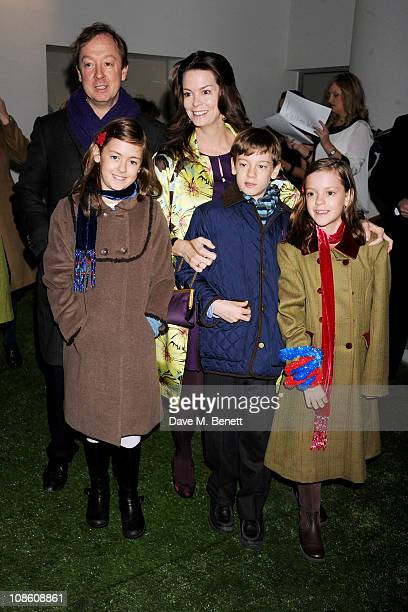 Journalist Geordie Greig wife Kathryn Terry and family attend the UK film premiere of Gnomeo and Juliet at Odeon Leicester Square on January 30 2011...