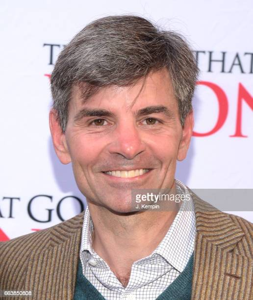 Journalist George Stephanopoulos attends The Play That Goes Wrong Broadway Opening Night at the Lyceum Theatre on April 2 2017 in New York City