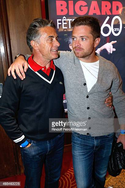 Journalist Gerard Holtz and his son Antoine attend the 'Bigard Fete Ses 60 Ans' One Man Show at Le Grand Rex on May 23 2014 in Paris France
