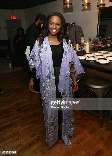 Journalist Gia Peppers attends the Soul Train Soul Food Vegan Dinner Party on November 21 2016 in New York City