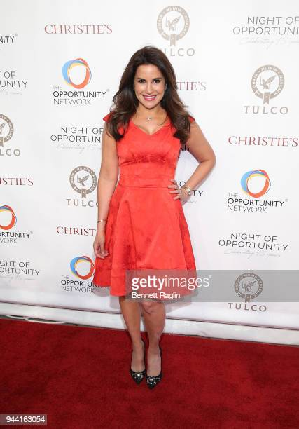 Journalist Gigi Stone Woods attends the 2018 Night of Opportunity Gala at Cipriani Wall Street on April 9 2018 in New York City