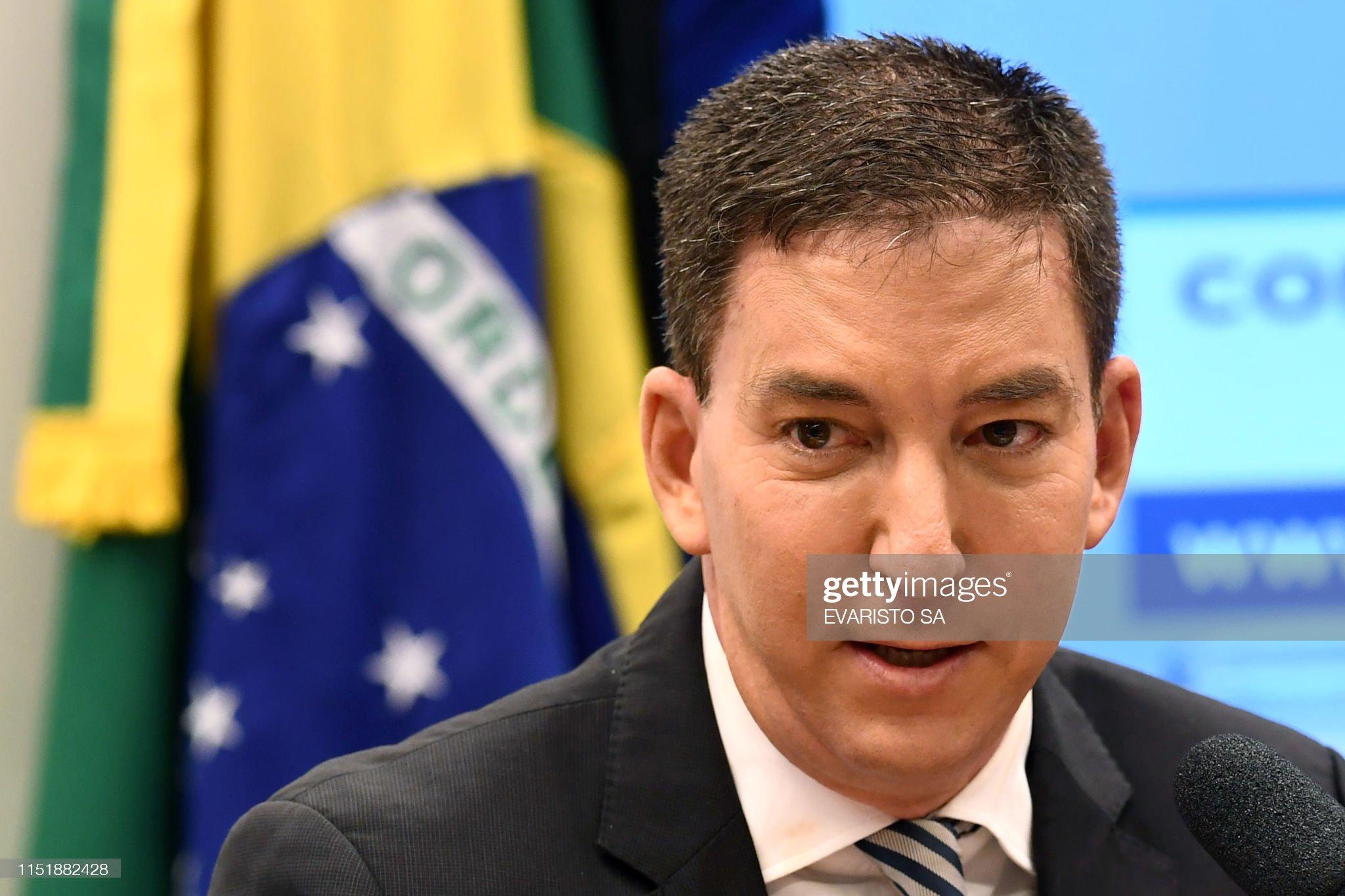 BRAZIL-POLITICS-CORRUPTION-INTERCEPT-GREENWALD : News Photo