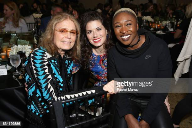 Journalist Gloria Steinem actors Debra Messing and Cynthia Erivo attend The 2017 MAKERS Conference Day 2 at Terranea Resort on February 7 2017 in...