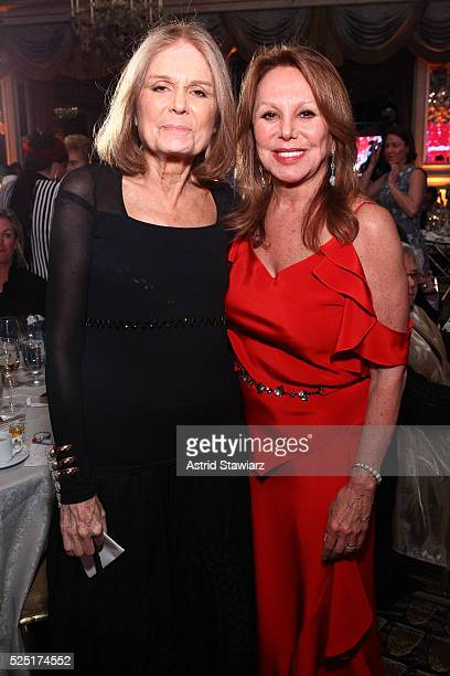 Journalist Gloria Steinem and actress Marlo Thomas attend the Ms. Foundation For Women 2016 Gloria Awards Gala at The Pierre Hotel on April 27, 2016...