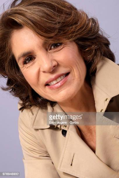Journalist great reporter and war reporter Anne Nivat poses during a portrait session in Paris France on