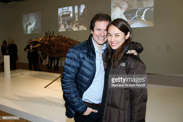 Journalist Guillaume Debre and his wife attend the Cesar Retrospective at Centre Pompidou on December 11 2017 in Paris France