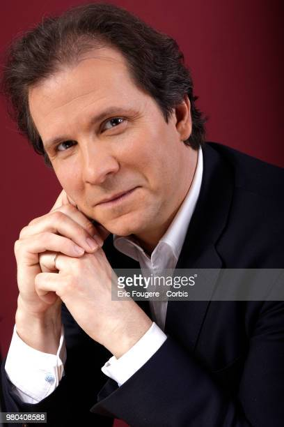 Journalist Guillaume Debre poses during a portrait session in Paris France on