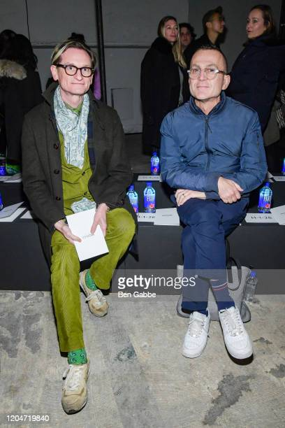 Journalist Hamish Bowles and president and CEO of CFDA Steven Kolb attend the Monse Fashion Show during New York Fashion Week The Shows on February...