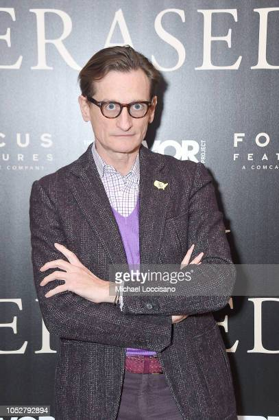 Journalist Hamish Bowles attends the New York screening of Boy Erased at the Whitby Hotel on October 22 2018 in New York City