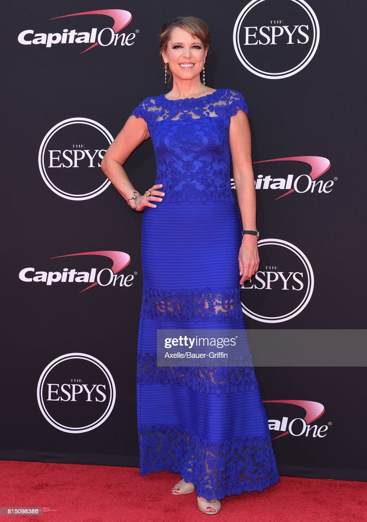 Journalist Hannah Storm arrives at the 2017 ESPYS at Microsoft Theater on July 12, 2017 in Los Angeles, California.