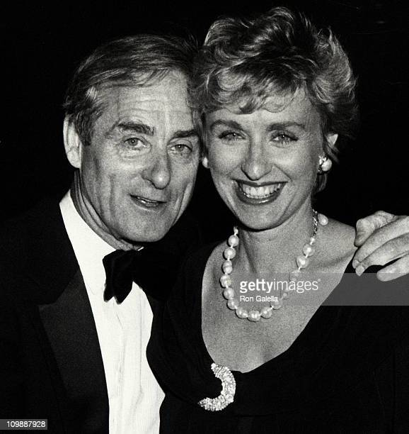 Journalist Harold Evans and Tina Brown attend Gala Helen Gurley Brown's 25th Anniversary as Editor of Cosmopolitan Magazine on June 25 1990 at the...