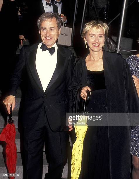 Journalist Harold Evans and Tina Brown attend Party Richard Avedon Hosted by Random House and The New Yorker on September 27 1993 at the New York...