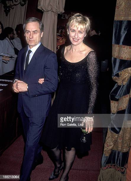 Journalist Harold Evans and Tina Brown attend The New Yorker Goes to the Movies Hollywood Issue on March 14 1994 in Bel Air California