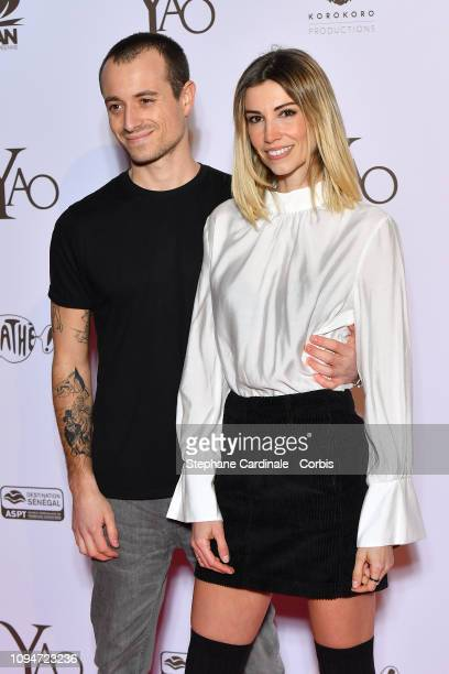 Journalist Hugo Clement and Miss France 2006 Alexandra Rosenfeld attend 'Yao' Paris Premiere at Le Grand Rex on January 15 2019 in Paris France