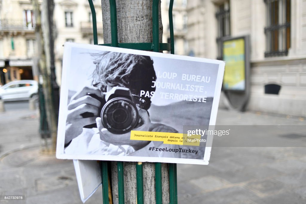 Support event for loup bureau french journalist jailed in