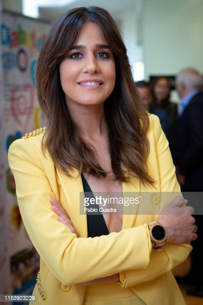 Journalist Isabel Jimenez attends 'Brindis Solidario' ceremony by Protos on June 05 2019 in Madrid Spain