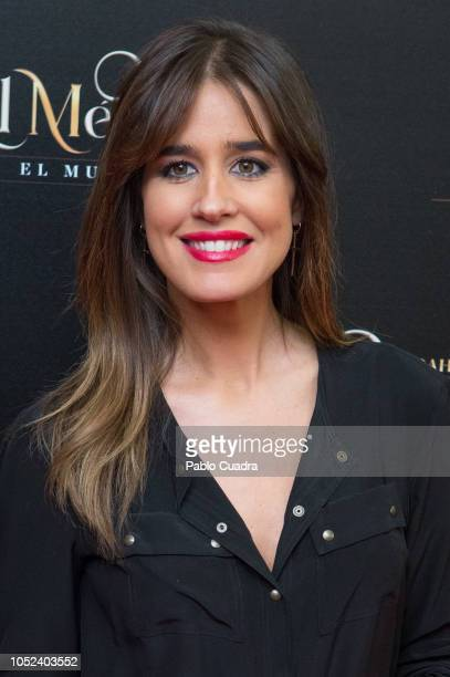 Journalist Isabel Jimenez attends 'El Medico' musical premiere at the Nuevo Apolo Teather on October 17 2018 in Madrid Spain