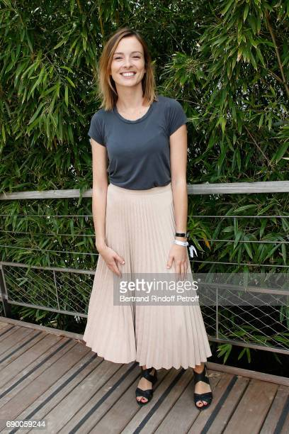 Journalist Isabelle Ithurburu attends the 2017 French Tennis Open Day Three at Roland Garros on May 30 2017 in Paris France