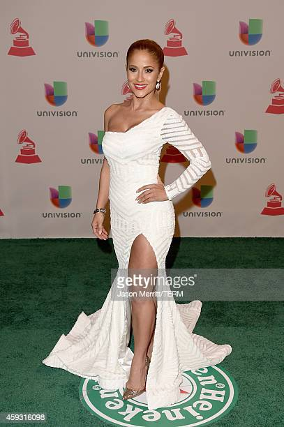 Journalist Jackie Guerrido attends the 15th Annual Latin GRAMMY Awards at the MGM Grand Garden Arena on November 20 2014 in Las Vegas Nevada