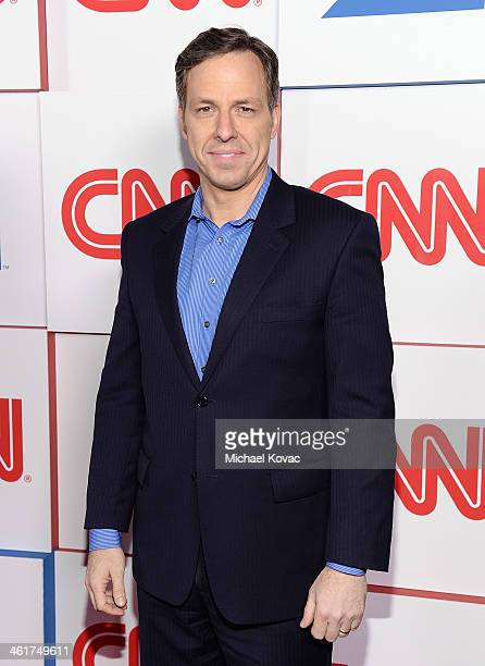 Journalist Jake Tapper attends the CNN Worldwide AllStar Party At TCA at Langham Hotel on January 10 2014 in Pasadena California