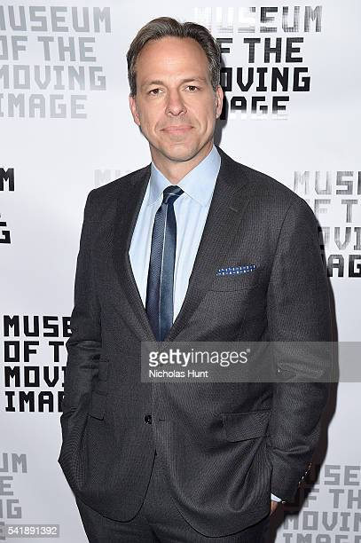 Journalist Jake Tapper attends the Museum of the Moving Image honoring Netflix Chief Content Officer Ted Sarandos and Seth Meyers at St Regis Hotel...