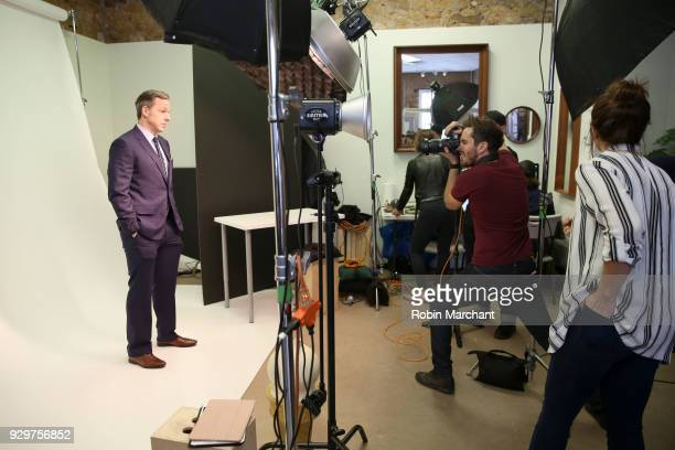 Journalist Jake Tapper poses for a portrait in the Pizza Hut Lounge at 2018 SXSW Film Festival on March 9 2018 in Austin Texas