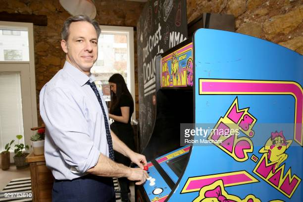 Journalist Jake Tapper poses in the Pizza Hut Lounge at 2018 SXSW Film Festival on March 9 2018 in Austin Texas