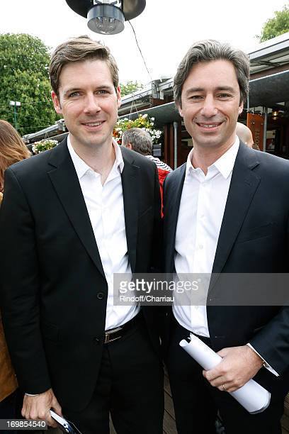 Journalist James Quarles and Country manager of Facebook France Laurent Solly attends Roland Garros Tennis French Open 2013 Day 9 on June 3 2013 in...