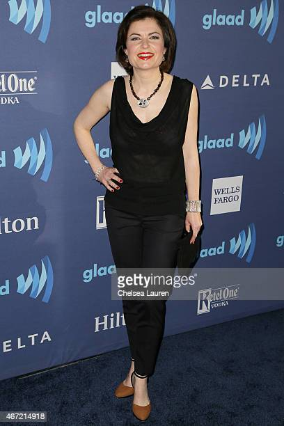 Journalist Jane Hill arrives at the 26th annual GLAAD media awards at The Beverly Hilton Hotel on March 21 2015 in Beverly Hills California