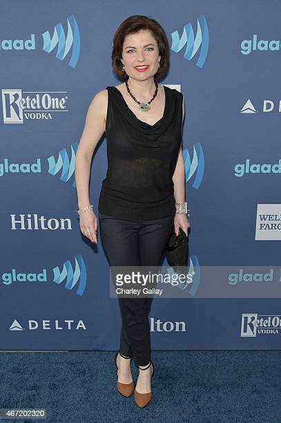 Journalist Jane Hill attends the 26th Annual GLAAD Media Awards at The Beverly Hilton Hotel on March 21 2015 in Beverly Hills California