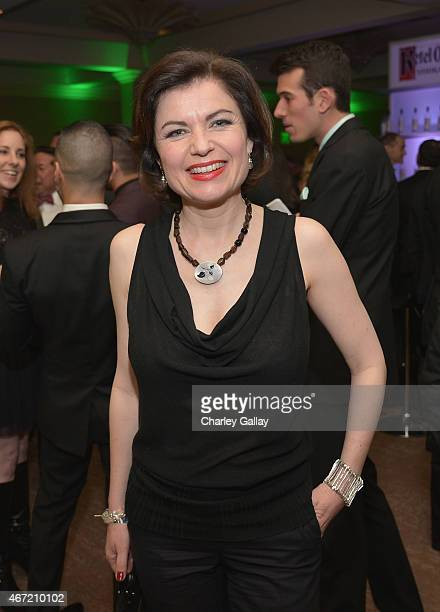 Journalist Jane Hill attends the after party for the 26th Annual GLAAD Media Awards at The Beverly Hilton Hotel on March 21 2015 in Beverly Hills...