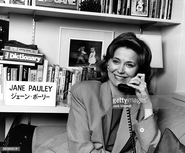 Journalist Jane Pauley in her NBC office 1990 Photo by Jack Mitchell/Getty Images
