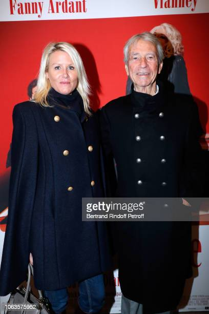 Journalist JeanClaude Narcy and Alice Bertheaume attend the Ma mere est folle Private Projection at Elysee Biarritz on November 19 2018 in Paris...