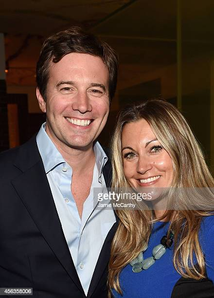 Journalist Jeff Glor and Nikki Glor attend the CAA TV News Party 2014 on September 29 2014 in New York City